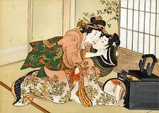 Repro Japanese Woodblock 'Shunga Style' Print - #011