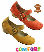 ORIZONTE OSCAR WOMENS/LADIES LEATHER COMFORT SHOES/MARY JANE/CASUAL/LOW HEEL