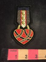 Red Gold Black Heart Patch 91WJ