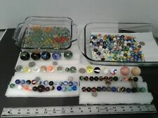 Vintage Toy marble collection 300+Akro german mica slag cateye ceramic lot cheap