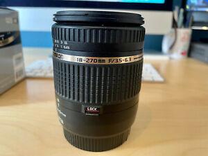 Tamron 18-270mm F/3.5-6.3 Di II VC PZD Canon lens + 2 Hoya 62mm filters + Hood
