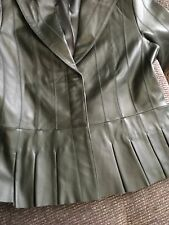 WOMENS GENUINE  LEATHER JACKET By COLDWATER CREEK SIZE 6 *NWT*DARK GREEN