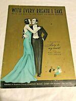 Sheet016 Sheet Music With Every Breath I Take Bing Crosby Kitty Carlisle