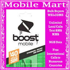 BOOST�—‰$40 Prepaid SIM CARD�—‰9GB Data�—‰Unlimited Call SMS MMS�—‰FREE Overseas Calls�—‰