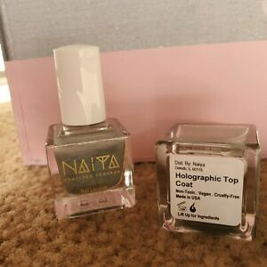 """NAIYA vegan nail polish - """"holographic top coat"""" 10 free"""