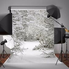 5x7FT Vinyl Winter Ice Snow Photography Backdrop Background Scene Studio Props