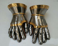 Medieval Steel Gothic Gauntlet Gloves Antique Armour Functional Halloween gift