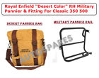 """Royal Enfield """"Desert Color"""" RH Military Pannier & Fitting For Classic 350 500"""
