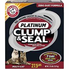 New listing Arm & Hammer Clump & Seal Platinum Clumping Cat Litter, Multi-Cat, 27.5lb