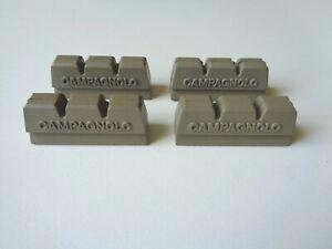 *NOS Vintage 1980s Campagnolo Victory grey brake blocks pads inserts (x4 pcs)*