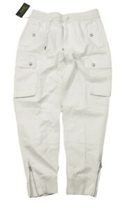 Polo Ralph Lauren Men's White Classic Fit Utility Surplus Cargo Jogger Pants