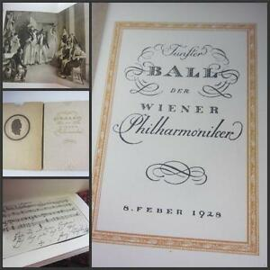 Antique Book Composer Franz Schubert German Language 1928 Philharmonic  Vienna