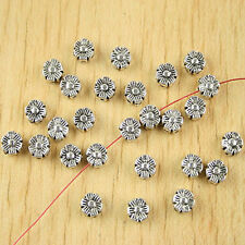 65pcs Tibetan silver sunflower spacer beads h2801