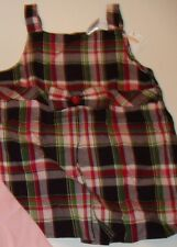 Gymboree Pups and Kisses Plaid Jumper Top Shirt Girls Size 4 NWT NEW