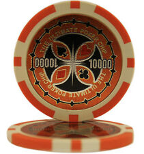 50pcs Ultimate Casino Laser Clay Poker Chips $10000
