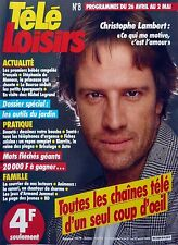 Mag 1986: CHRISTOPHE LAMBERT_LINDA of SUZA_MICHEL LEGRAND_STEPHANIE MONACO