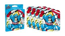 Captain America set of 4 neoprene drinks coasters   (nm)  REDUCED TO CLEAR!