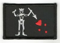 PIRATE EDWARD TEACH FLAG PATCHES COUNTRY PATCH BADGE IRON ON NEW EMBROIDERED