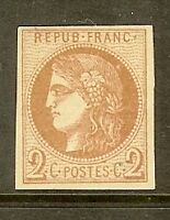 """FRANCE STAMP TIMBRE N° 40B """" CERES BORDEAUX 2c BRUN-ROUGE """" NEUF x TB"""