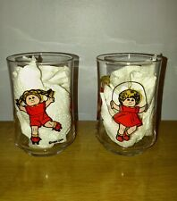 "Pair of Vintage Cabbage Patch Kids  3 1/2"" Juice Glasses 1984"