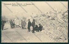 L'Aquila Avezzano Terremoto cartolina QQ3890