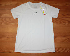 NWT Womens UNDER ARMOUR Short Sleeve Loose Fit Tee Shirt White Size M Medium