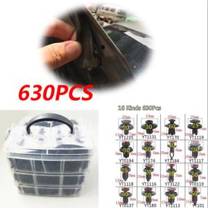 630Pcs 16 Kinds 3 Layers Auto Fasteners Car Door Trim Fender Bumper Repair Clips