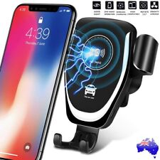 Qi Wireless Car Fast Charger Phone Mount Holder for iPhone XS XR 8 Samsung S10