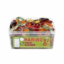 Haribo Giant Suckers 60 Pieces Per Tub Party bag filler wedding favour