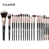 20PCS Marble Make Up Brushes Eyeshadow Eyeliner Blending Eyebrow Brushes Set