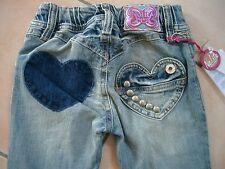 (57) NOLITA POCKET Girls Look Usato Jeans Pantaloni Tasche cuore & Acciaio borchie gr.116