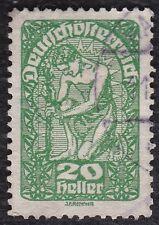 NO S651 - AUSTRIA c 1919 Man Planting Tree, green 20 Heller - Hinged -