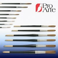PRO ARTE SERIES 10 PROLENE SYNTHETIC HAIR SIGNWRITER BRUSHES 13 Sizes - UK Made