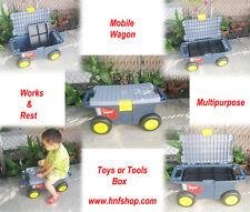 Organizer Plastic Portable Tools Box Storage Home Garden Car Truck Case Wagon