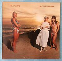 JOHN STEWART ~ BLONDES ~ 1982 GERMAN 10-TRACK VINYL LP RECORD