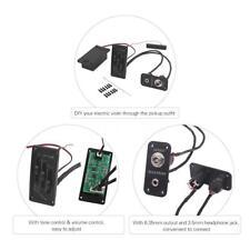 Electric Violin Pickup Adjustable Piezo Preamp Accessory W/Active Tone System