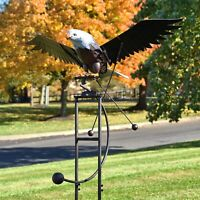 Large Flapping Eagle Balance Rocking Garden Stake, 6.25 Ft. Tall