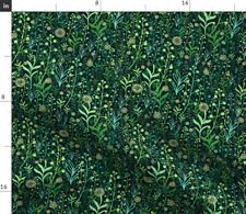 Magic Microgreen Green Nature Forest Grass Spoonflower Fabric by the Yard