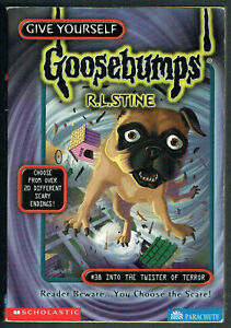 GY, GOOSEBUMPS, INTO THE TWISTER OF TERROR #38, 1st edition USA, VGC, UNREAD.