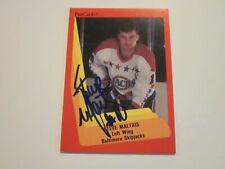 STEVE MALTAIS SIGNED AUTOGRAPHED 1990 AHL PROCARDS CARD-BALTIMORE SKIP JACKS
