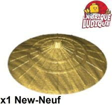 Lego 1x Minifig hat Conical Asian chapeau chinois conique or/gold 93059 NEUF