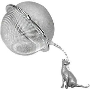 ppc02 Siamese Cat  2 inch Tea Ball Mesh Infuser Stainless Strainer