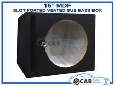 """15"""" Inch 38cm Vented Ported Black Carpeted Car Sub woofer MDF Bass Box Enclosure"""