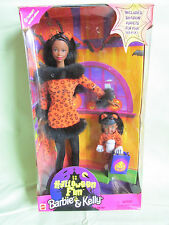 NEW HALLOWEEN FUN BARBIE & KELLY CAT DOLL GIFT SET 23461 MATTEL 1998 TARGET