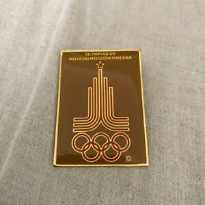 Olympic poster design badge 1980 Moscow pattern reprinted 4×3.5cm size used item