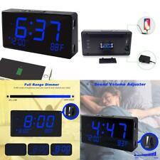 Digital Alarm Clock, Alarm Clocks For Bedrooms With Usb Port For Charging