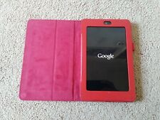 Nexus 7 (1st Generation) 16GB, Wi-Fi, 7in - Black with red protective case