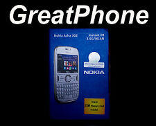 Unlocked Nokia Asha302 3.5G white Mobile phone works with * all Networks *