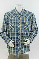Wrangler Mens 3XL Western Fashion Multicolor Plaid Long Sleeve Pearl Snap Shirt