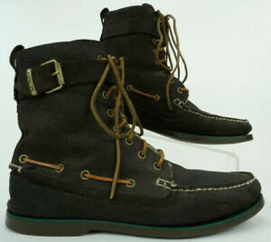 Polo Ralph Lauren Brentwood Men's 11 D Shearling Wool Lined Leather Buckle Boots